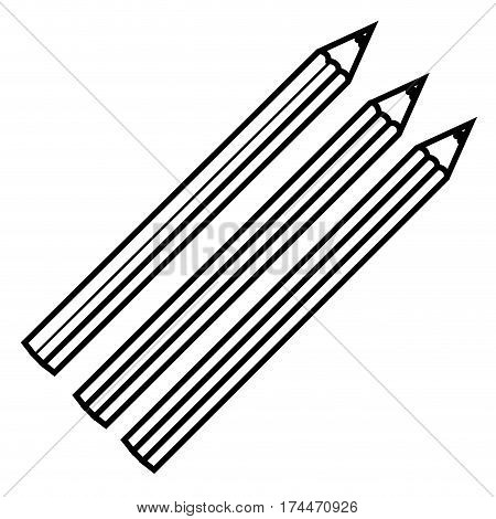 figure colors pencils icon stock, vector illustraction design image
