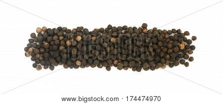 Heap Of Hot Black Pepper Seeds Isolated