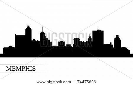Memphis City Skyline Silhouette Background