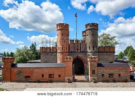 View of Friedrichsburg gate in Kaliningrad city. Construction of the fort began in 1657 during the Second Northern War. Russia