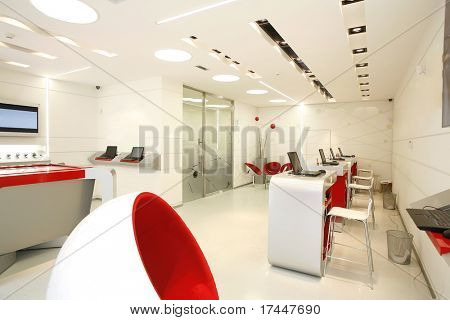 modern bright workplace