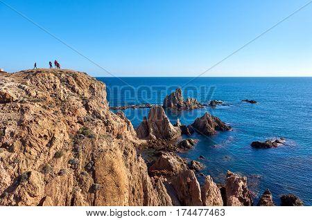 Las Sirenas In The Cabo De Gata-nijar Natural Park. Spain