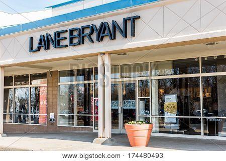 Fairfax USA - February 18 2017: Lane Bryant store for plus sized clothing