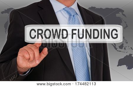 Crowd Funding - Manager with touchscreen and text