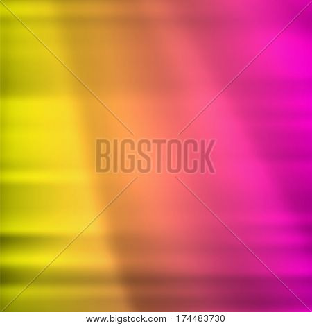 Blurry pink yellow glowing background with horizontal lines light with space for your message. Vector illustration EPS 10 for design presentation brochure layout page cover book or magazine team farming