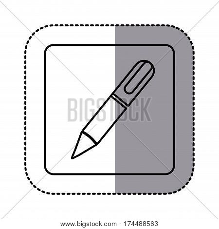 white emblem ballpoint icon, vector illustraction design