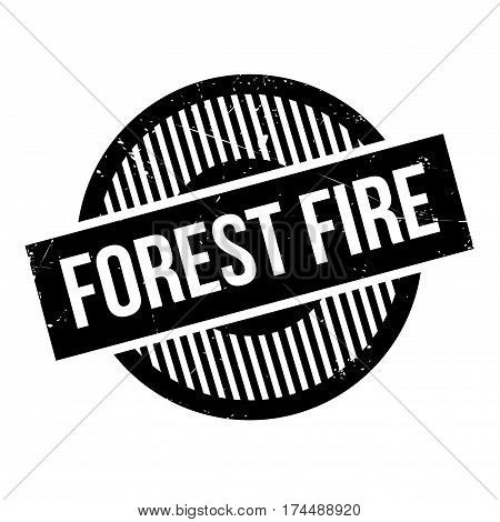 Forest Fire rubber stamp. Grunge design with dust scratches. Effects can be easily removed for a clean, crisp look. Color is easily changed.