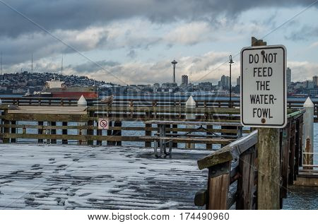 A view of the West Seattle waterfront in winter.