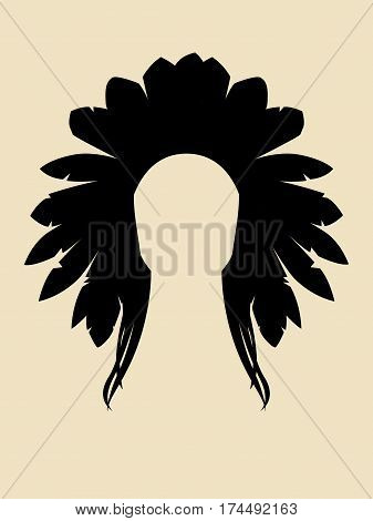 Face Symbol of North American Indian chieftain