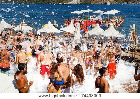 Foam Beach Summer Party Marmaris Turkey