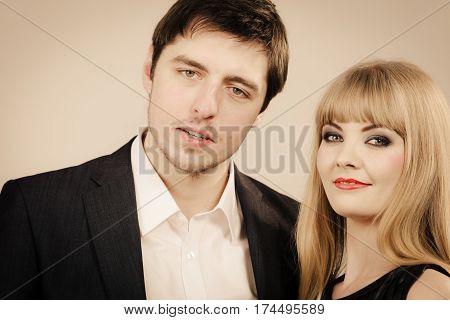 Happy Elegant Couple Lovers.