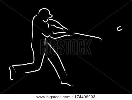 Simple graphic of a pinch hitter in baseball sport
