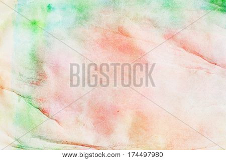 Abstract watercolor art hand paint on white background with spray, spots, splashes: red and green tones and halftones. Hand drawn on paper grain texture. Modern pattern, wallpaper, banner design, background for a designer,