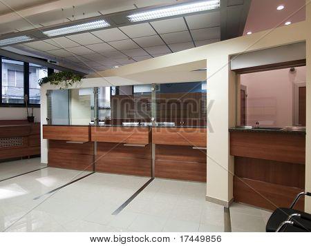 interior of a bank