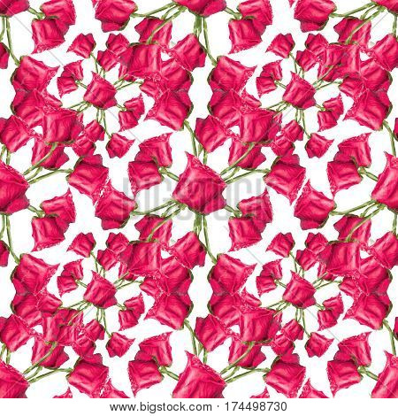 Red Roses Seamless Pattern