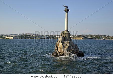 Monument to the scuttled ships. Sevastopol, Crimea, Russia