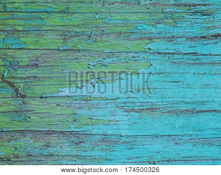 the wood texture with an old paint