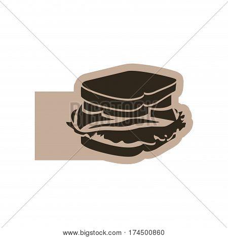 contour emblem sandwich icon, vector illustraction design image