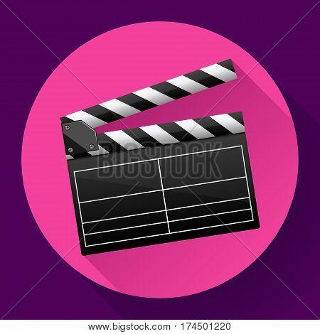 movie clapper board movie maker vector cinema icon