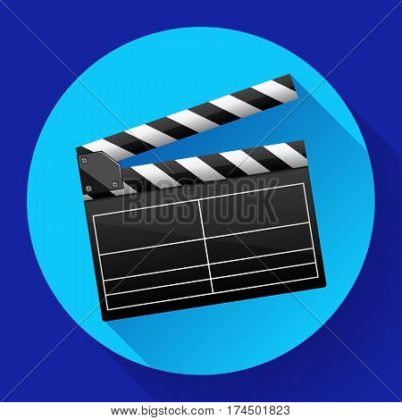 movie clapper board movie maker vector cinema icon