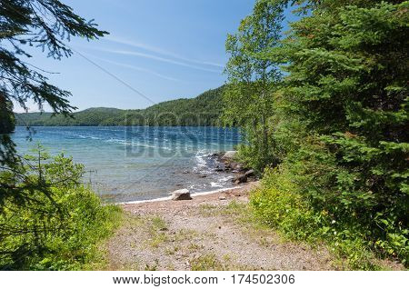 Natural landscape in summer. North of Ontario Canada