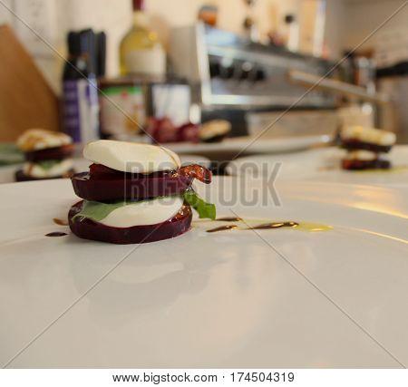 Homemade Beet Caprese Salad