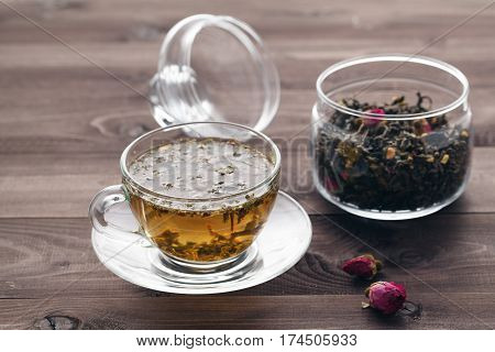 Healing Tea With Herbs And Rode Hip