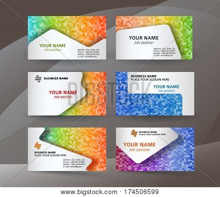 Business Card Layout Template Set01