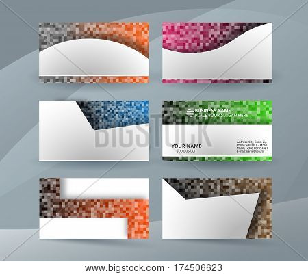 Business Card Layout Template Set02