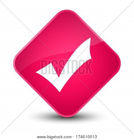 Validation Icon Elegant Pink Diamond Button