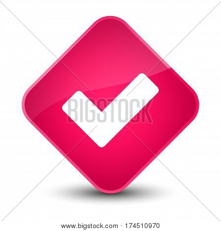 Validate Icon Elegant Pink Diamond Button