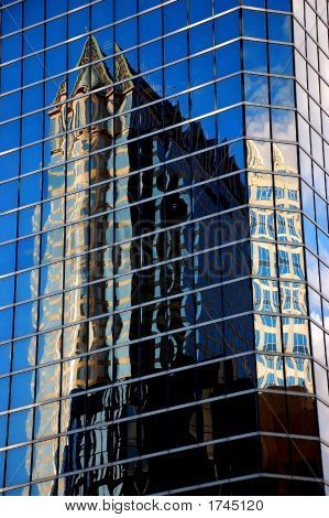 Glass Building Reflection, Downtown Area, Tampa, Florida
