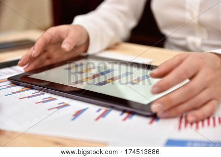 Tablet With Financial Data