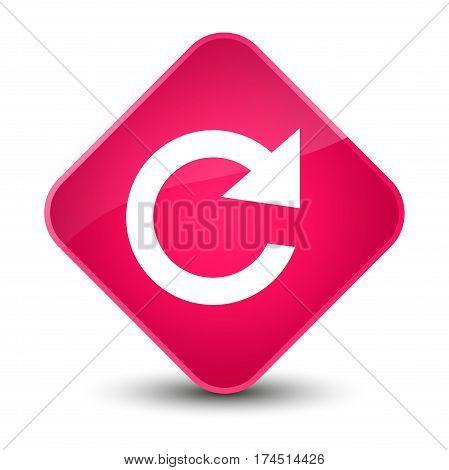 Reply Rotate Icon Elegant Pink Diamond Button