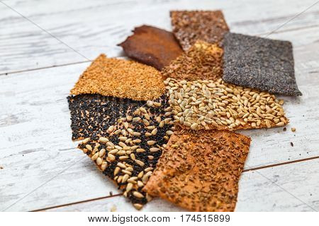 Baked Thin Healthy Seed Crackers