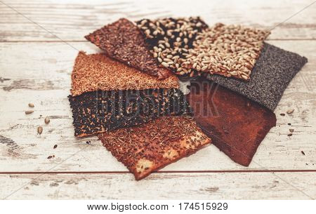 Healthy Seed Crackers Toned