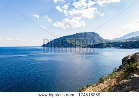 View of Mount Ayu-Dag from cape Plaka Crimea