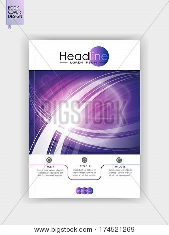 Cover template design in A4 for publication and web backgrounds. Vector.