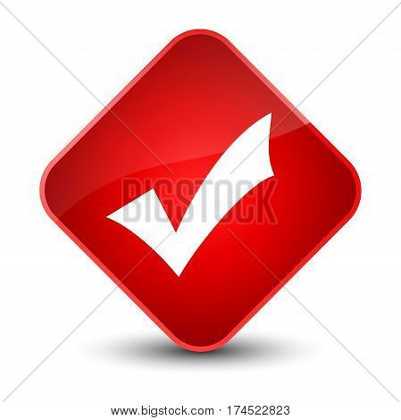 Validation Icon Elegant Red Diamond Button