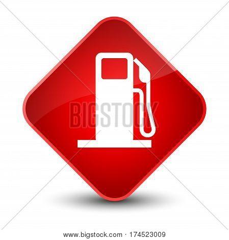 Fuel Dispenser Icon Elegant Red Diamond Button