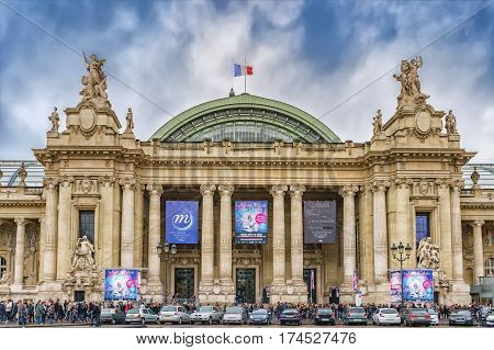 Crowd Of People In Front Of Grand Palais, Paris, France
