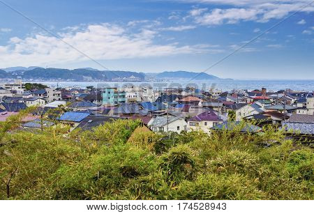 View On Kamakura City, Japan