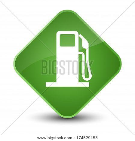 Fuel Dispenser Icon Elegant Soft Green Diamond Button