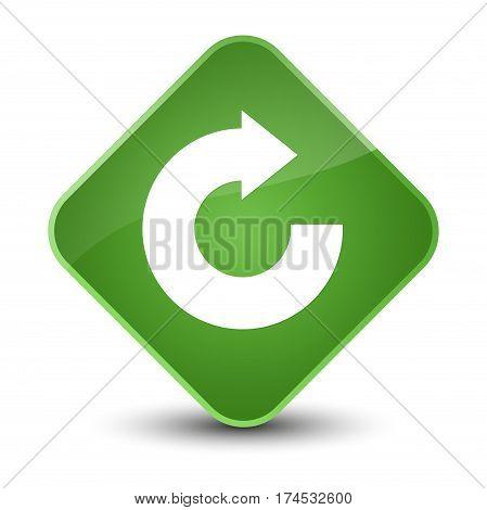 Reply Arrow Icon Elegant Soft Green Diamond Button
