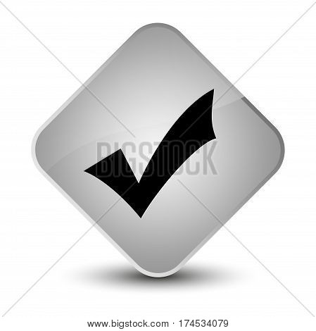 Validation Icon Elegant White Diamond Button