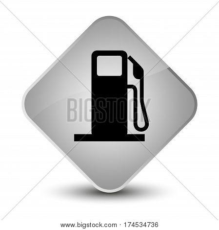 Fuel Dispenser Icon Elegant White Diamond Button