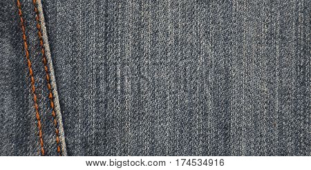 Detailed Texture Of Dark Denim Cloth
