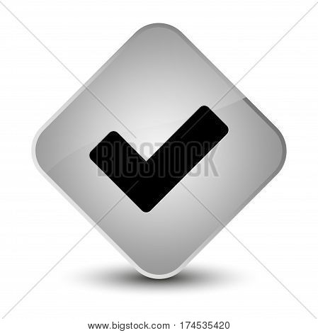 Validate Icon Elegant White Diamond Button