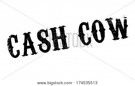 Cash Cow rubber stamp. Grunge design with dust scratches. Effects can be easily removed for a clean, crisp look. Color is easily changed.