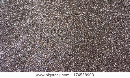 Wet Gravel Pebble Texture on road way